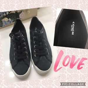 AUTHENTIC COACH▪️Black Lace Up Sneakers